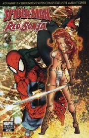 Spider-man Red Sonja #1 Michael Turner Aspen Variant COA Marvel comic book
